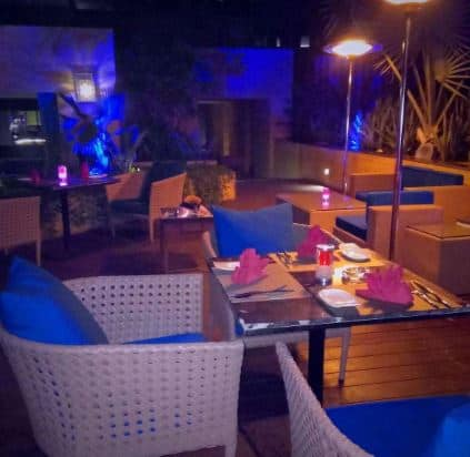 aire skybar and grills - crowne plaza jaipur a perfect corporate party place