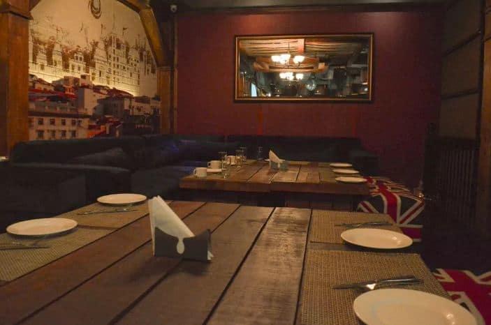 bar area at godfather lounge and jazz bar