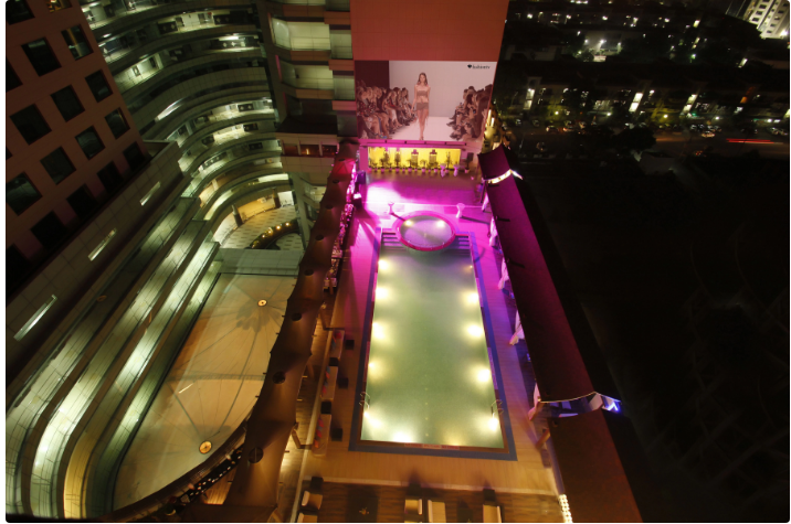 Bollywood Theme Party at lust by the pool - radisson blu