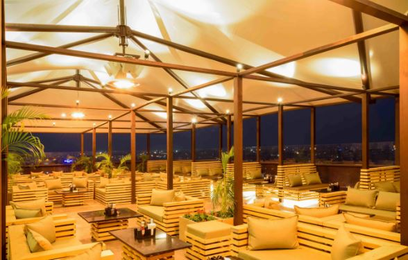 exclusive party packages of lit bar and kitchen