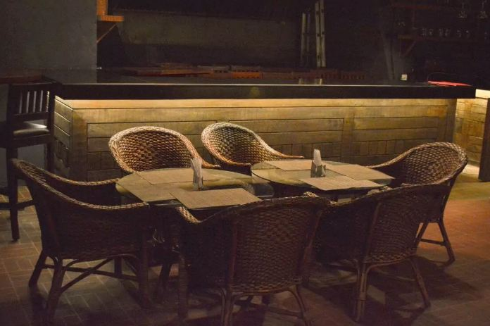 interior decor of godfather lounge and jazz bar