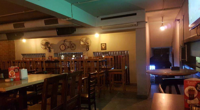 Interior of boozers bar and kitchen Indiranagar