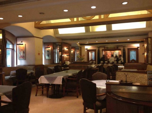 Interior of dress circle bar Deccan Gymkhana