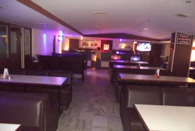 Interior of nandhini restaurant and bar S R Nagar