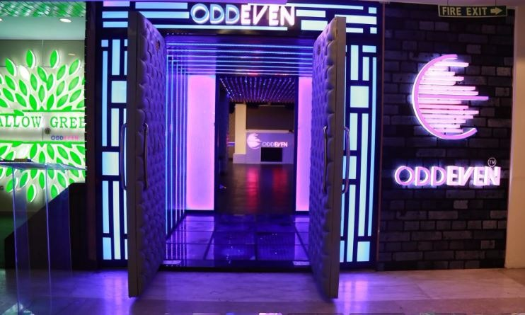 Interior of odd even - club and lounge Saket