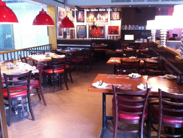 Interior of tgi fridays Banjara Hills
