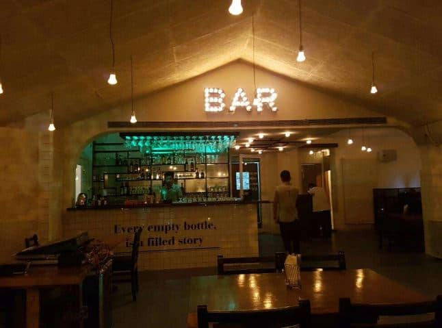 Interior of the bartender Koramangala 5th Block