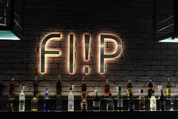 Interior of the flip bar Kandivali East
