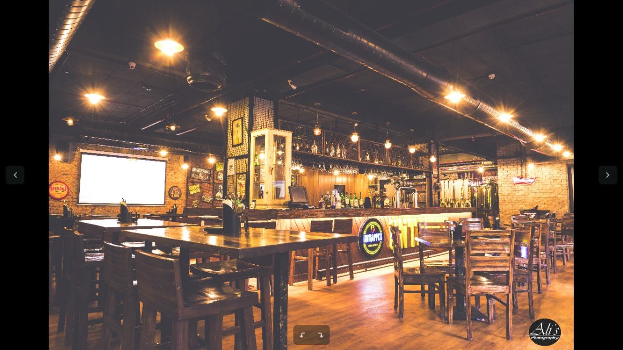 Interior of Untapped Brew & Pub Udyog Vihar
