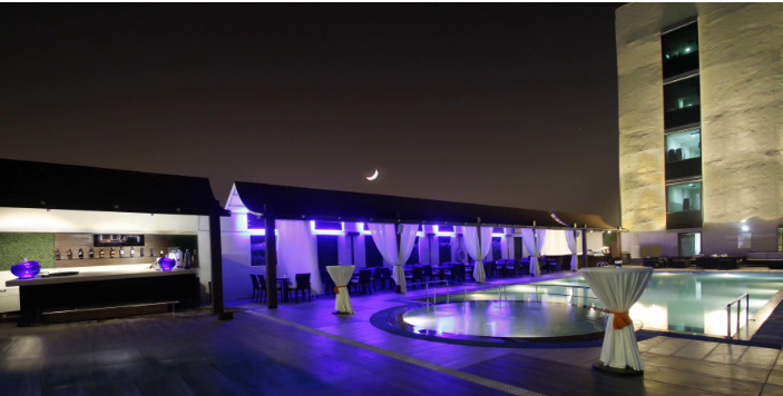 lust by the pool - radisson blu a perfect corporate party place