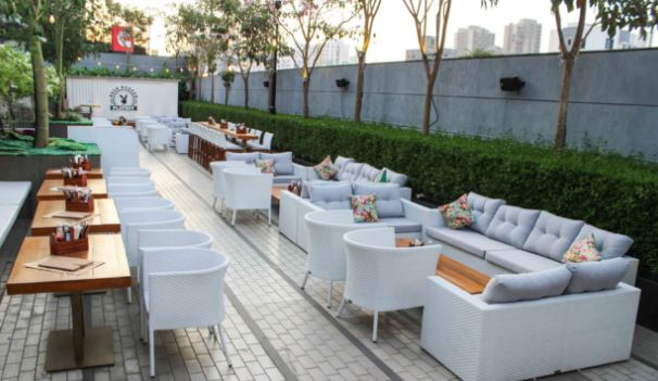 playboy beer garden a perfect corporate party place