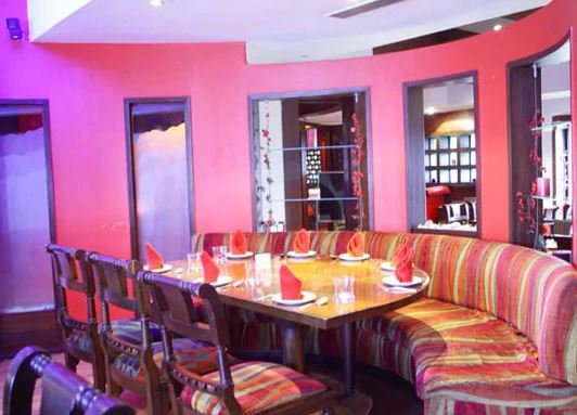 red kitchen   lounge a perfect corporate party place