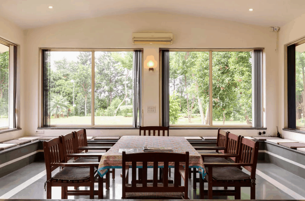 Seating Area of Farmhouse 1102 Panchgaon