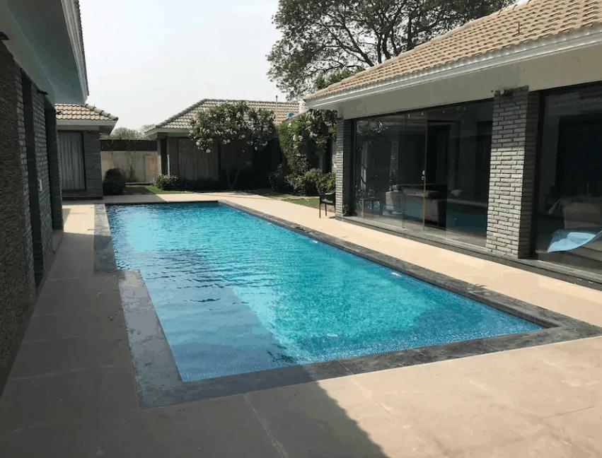 Seating Area of Villa 1111 Chattarpur