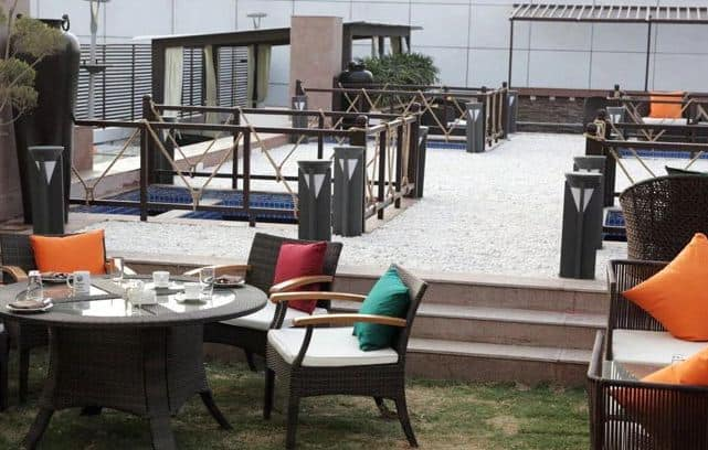terrace area at indian grill room