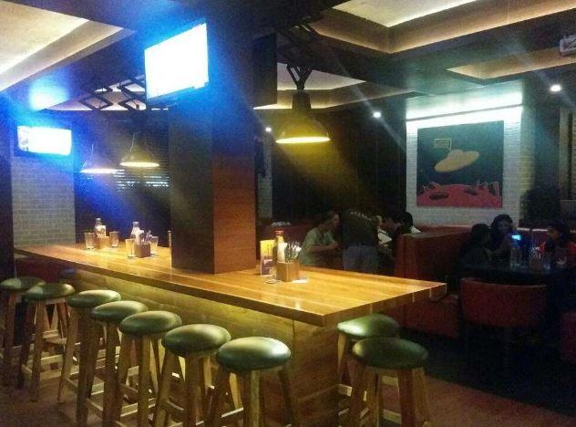 Terrace Party at big bang theory - bar and kitchen