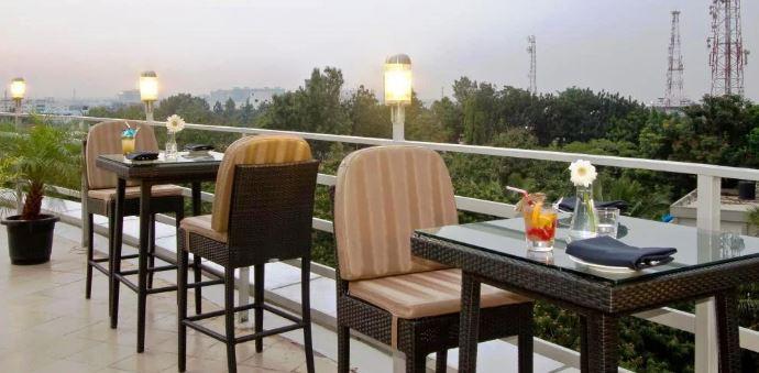 Terrace Party at sky lounge bar - svenska design hotel