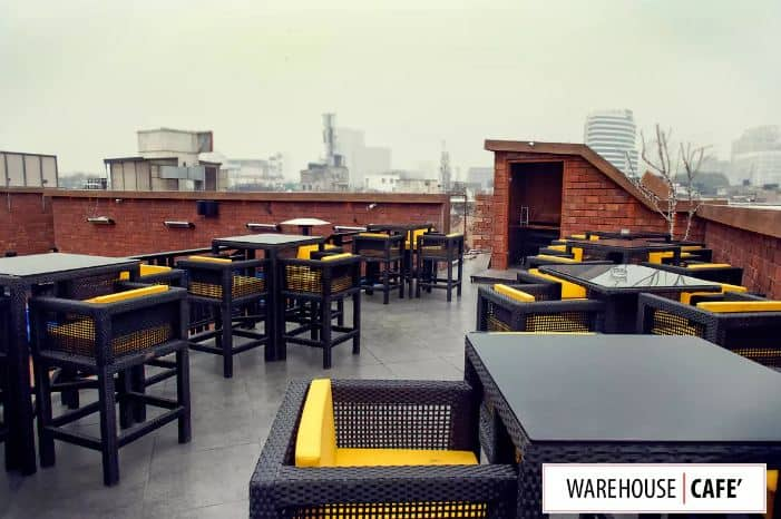 terrace party at warehouse cafe