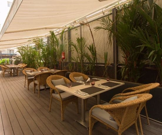 Terrace Party at white plate