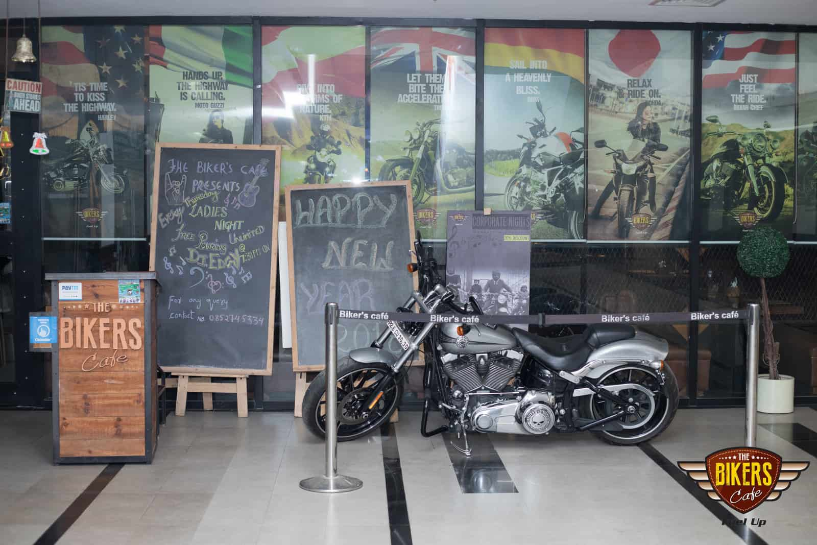 Theme Party at the bikers cafe